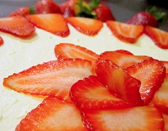 1523 foto  Strawberry cheesecake