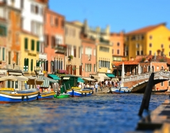 13602 foto  Venezia: cannaregio in tilt-shift